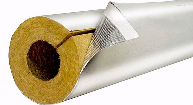 Утепление труб минеральной ватой