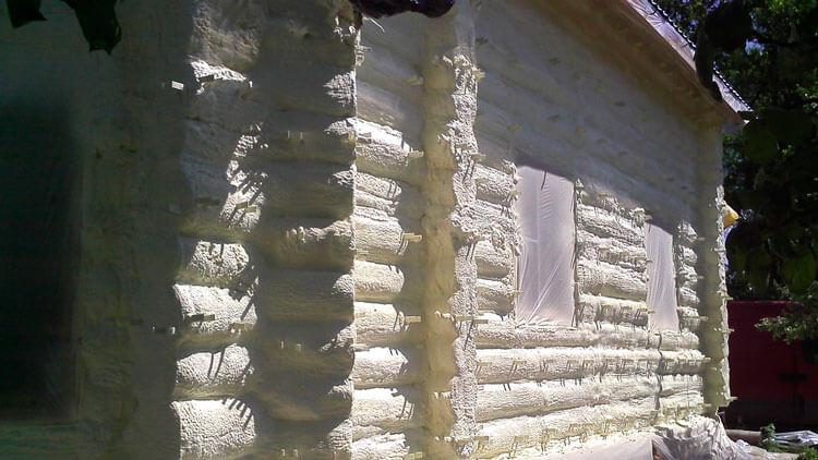 Утепление деревянного фасада пенополуретаном