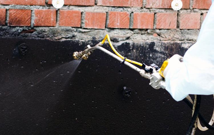 Стык трубы и гидроизоляции
