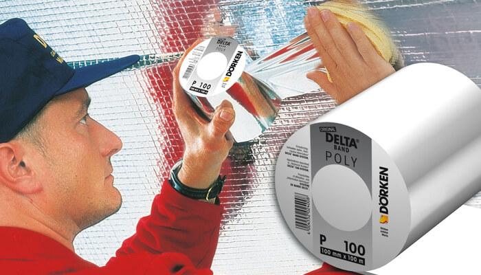 Алюминиевый односторонний скотч DELTA POLY-BAND P100