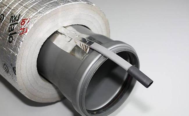 Обогрев трубы тепловым кабелем
