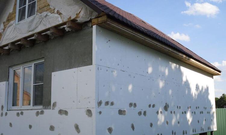 Утепление деревянного дома пенополистеролом