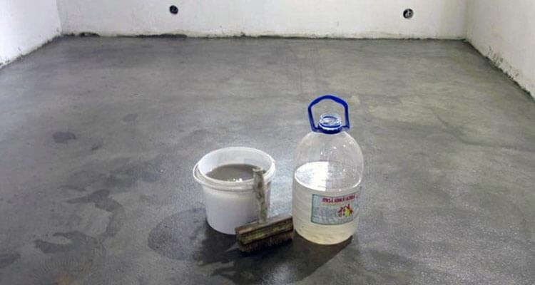 Гидроизоляция бетонной стяжки жидким стеклом