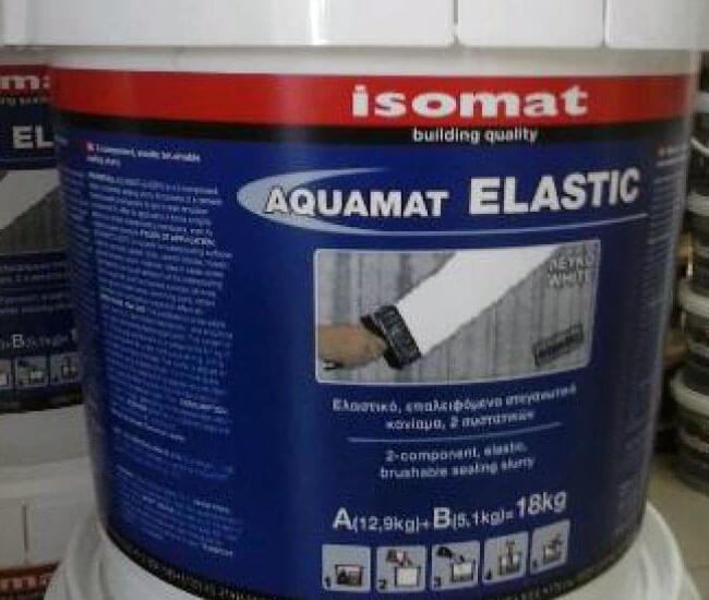 Обмазочная гидроизоляция AQUAMAT-ELASTIC