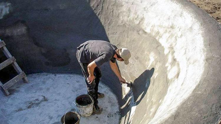 Гидроизоляция бетонного пруда